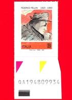 Nuovo - MNH - ITALIA - 2020 - 100 Anni Della Nascita Di Federico Fellini – Autoritratto - B - Alfanumerico - 6. 1946-.. Republic