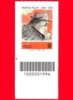 Nuovo - MNH - ITALIA - 2020 - 100 Anni Della Nascita Di Federico Fellini – Autoritratto - B - Barre 1996 - 6. 1946-.. Republic