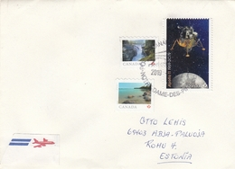 GOOD CANADA Postal Cover To ESTONIA 2019 - Good Stamped: Landscapes ; Space - Briefe U. Dokumente