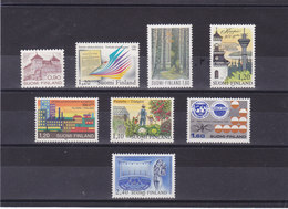 FINLANDE 1982 Yvert 855-857 + 859 + 861-864 NEUF** MNH - Finland
