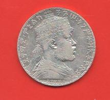 1 Birr 1899 Etiopia Ethiopia Silver Coin Menelik II° - Etiopia