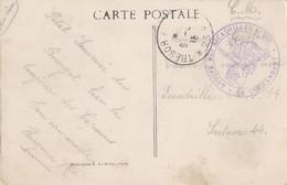 AVIATION  CACHET GROUPE DES ESCADRILLES C.R.P LE COMMANDANT SUR C.P DU BOURGET ESCADRILLE GUERRE 1914 1918 - Marcophilie (Lettres)