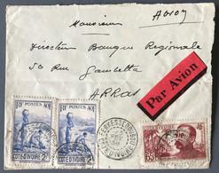 Cote D'Ivoire, Lettre De FERKESSEDOUGOU 1938, Par Avion Pour Arras - (B1966) - Briefe U. Dokumente
