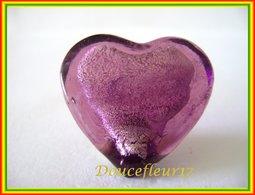 Clamecy .. Coeur En Verre ... Coeur Grenat N°6 ...Ref AFF : 50-2011 ..(boite 2) - Anciennes