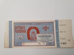 1 Billet Non émis De 1939 - Loterijbiljetten