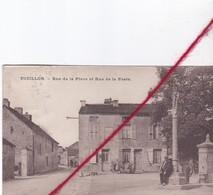CP 21   -  TOUILLON  -  Rue De La Place Et Rue De La Poste    (1 Pli) - Francia