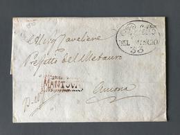 Italie 1810 - Lettre (LSC / No Text) Griffe MANTOVA (Lombardie) - (B1970) - ...-1850 Voorfilatelie