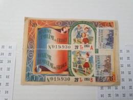 Billet Double De 1951 - Billets De Loterie