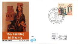 """BRD Schmuck-FDC """"750. Todesstag Der Hl. Hedwig"""" Mi.1701 ESSt 14.10.1993 BERLIN 12 - FDC: Buste"""