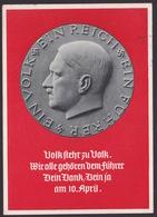 AK Propaganda / Volk Steht Zu Volk ...  / Geschrieben Von Anacker Heinrich - Guerra 1939-45