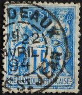 -Sage N°101 Type Ll.(CAD ) O.BORDEAUX GARE ST JEAN.22 AVRIL 1894. - 1876-1898 Sage (Type II)