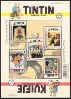 Tintin / Kuifje - Hérgé - Planche 5 Timbres N°4626/30 - 70 Ans Du Journal De Tintin - 2016 - Unused Stamps