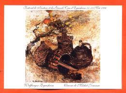 étiquette De Vin D'alsace Festival De Peinture Et Des Grands Crus D'eguisheil 11/12 Mai 1996 - Oeuvre De Jouenne - Unclassified