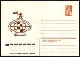 SOVIET UNION 1983 - PAUL KERES CHESS TOURNAMENT - TALLINN 1983 - POSTAL STATIONERY - MINT - Scacchi
