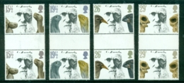 Great Britain 1982 Charles Darwin SG 1175-1178 Complete Set Of Gutter Pairs Mint MNH - Neufs