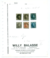 Belgique - COB N°6, 10, 11, 12, 14, 15 Obl 73 Liège - 1849 Schulterklappen