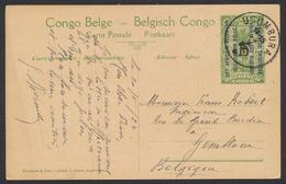 "EP Au Type 5ctm Vert ""Palmier"" + Surcharge Est Africain Allemand Obl ""Usumbura"" (1 étoile, 1923) Vers Gembloux - Stamped Stationery"