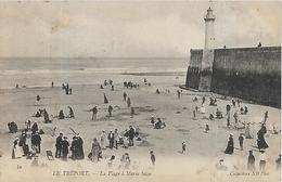 76, Seine Maritime, LE TREPORT, La Plage à Marée Basse, Scan Recto Verso - Le Treport