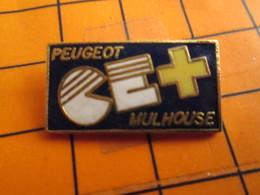 2619 Pin's Pins / Beau Et Rare / THEME AUTOMOBILES / PEUGEOT COMITE D'ENTREPRISE MULHOUSE - Peugeot