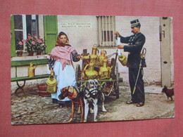 Dog Cart  Milk Inspection Brussels Belgium  Ref 3844 - Cani
