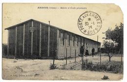 ANNOIS Mairie Et Ecole Provisoire Ed. Julien Achille (carte En Mauvais état, Coins Droite Haut Manque, Bas Abîmé) - France