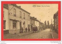 Aiseau - Rue Du Centre - Belle Vue Animée - Automobile - Magasin - Preaux - 2 Scans - Aiseau-Presles
