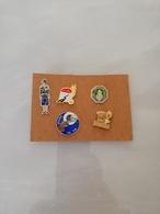 10596    LOT DE 5  PINS  GENDARMERIE OU POLICE - Militari