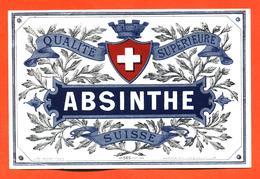étiquette Ancienne D'absinthe Suisse Qualité Supérieure - Autres