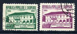 ALBANIA 1960 First Normal School Used  Michel 607-08 - Albanie