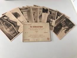 Lot De 9 Cartes Postales Anciennes Sleidinge Institut Médical Saint-Sebastien - Evergem