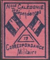 Nouvelle-Calédonie 1893. Timbre De Franchise Militaire (neuf Sans Charnière), Bleu Foncé Sur Rouge. Drapeaux, N° 19 - Neufs