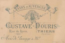 THIERS - VINS D'AUVERGNE - GUSTAVE DOURIS - 21 RUE DE LYON - Visiting Cards