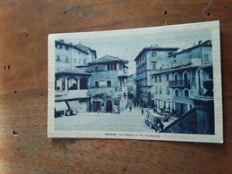Cartolina Postale D'epoca, Cortona, Piazza E Via Nazionale - Arezzo
