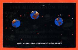 étiquette 1999 Millennium 2000 Cuvée Millénaire Cotes De Gascogne Borie Manoux à 33300 è 18,75 Cl - Mapemonde - Year 2000