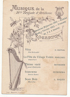 CASTRES - MUSIQUE DE LA 16 Me BRIGADE D'ARTILLERIE - PROGRAMME DU DIMANCHE 28 JANVIER 1912 - Cartes De Visite