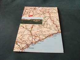 CARTA GEOGRAFICA PONZONE ALESSANDRIA SECONDA VEDUTA PANORAMICA D'ITALIA - Carte Geografiche