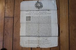 Affiche Du XVII° Duc De Verneuil 1667  Pour Combattre Le Désordre - Historical Documents