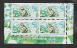 FRANCE / 2013 / Y&T PA N° 76a ** : Adolphe Pégoud (du Feuillet) X 4 - Coin Daté 2013 02 06 - Aéreo