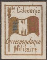 Nouvelle-Calédonie 1893. Timbre De Franchise Militaire (neuf Sans Charnière), Bleu, Blanc Et Rouge. Drapeau - Neufs