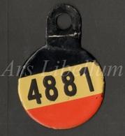 Fiets Nummerplaat / Antiek / Plaque D'immatriculation Permanente Pour Velo Militaire / Militaire Fiets / Belgisch Leger - Plaques D'immatriculation