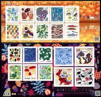 Japan (2019) - 2 MS -  /  Setas - Pilze - Mushrooms - Champignons - Fungi - Cogumelos - Funghi - Fishes - Rabbits - Hongos