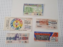 Lot De 5 Tickets Des Années 70 - Billets De Loterie