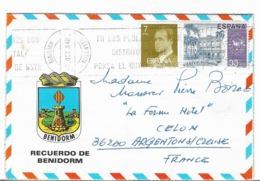 """Aerogramme  - ESPANA - """"ALICANTE : Recuerdo De Benidorm - 1984 - Telegrafi"""