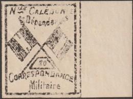 Nouvelle-Calédonie 1893. Timbre De Franchise Militaire (neuf Sans Charnière), Noir Sur Grisâtre Mal Imprimé. Drapeaux 20 - Neufs