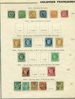 !!! PRIX FIXE : COLONIES FRANCAISES EMISSIONS GENERALES, LOT DE TIMBRES DE 1859 A 1878 - France (ex-colonies & Protectorats)