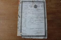 Passeport Du Premier Empire 1808  Montpellier  Nevers  Armes Impériales - Documentos Históricos