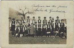 Serbie Gradesuica Carte Photo   Jeunes Serbes  Fevrier 1918 - Serbie