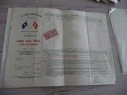 Connaissement Dampskibs Selskab Bordeaux Libau Riga Reval 1895 Verdet - Transportmiddelen