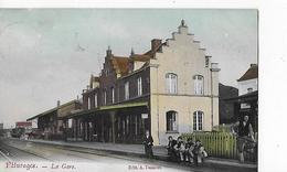 1 Cpa Pâturages (commune De Colfontaine) : La Gare  (attente De Voyageurs ?) - Bélgica