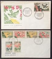 AFGA1 République Gabonaise Poste Aerienne Libreville Série Fleurs FDC Premier Jour 1961 Lot 2 Lettre - Gabon (1960-...)